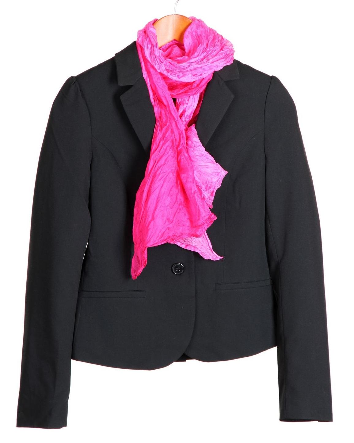 Add a black blazer & scarf